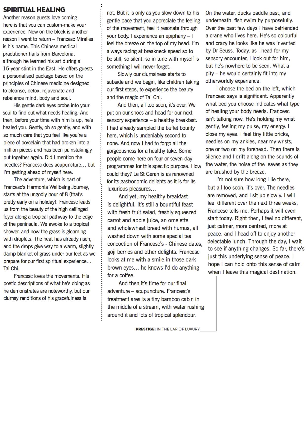 Pestige text highlighted