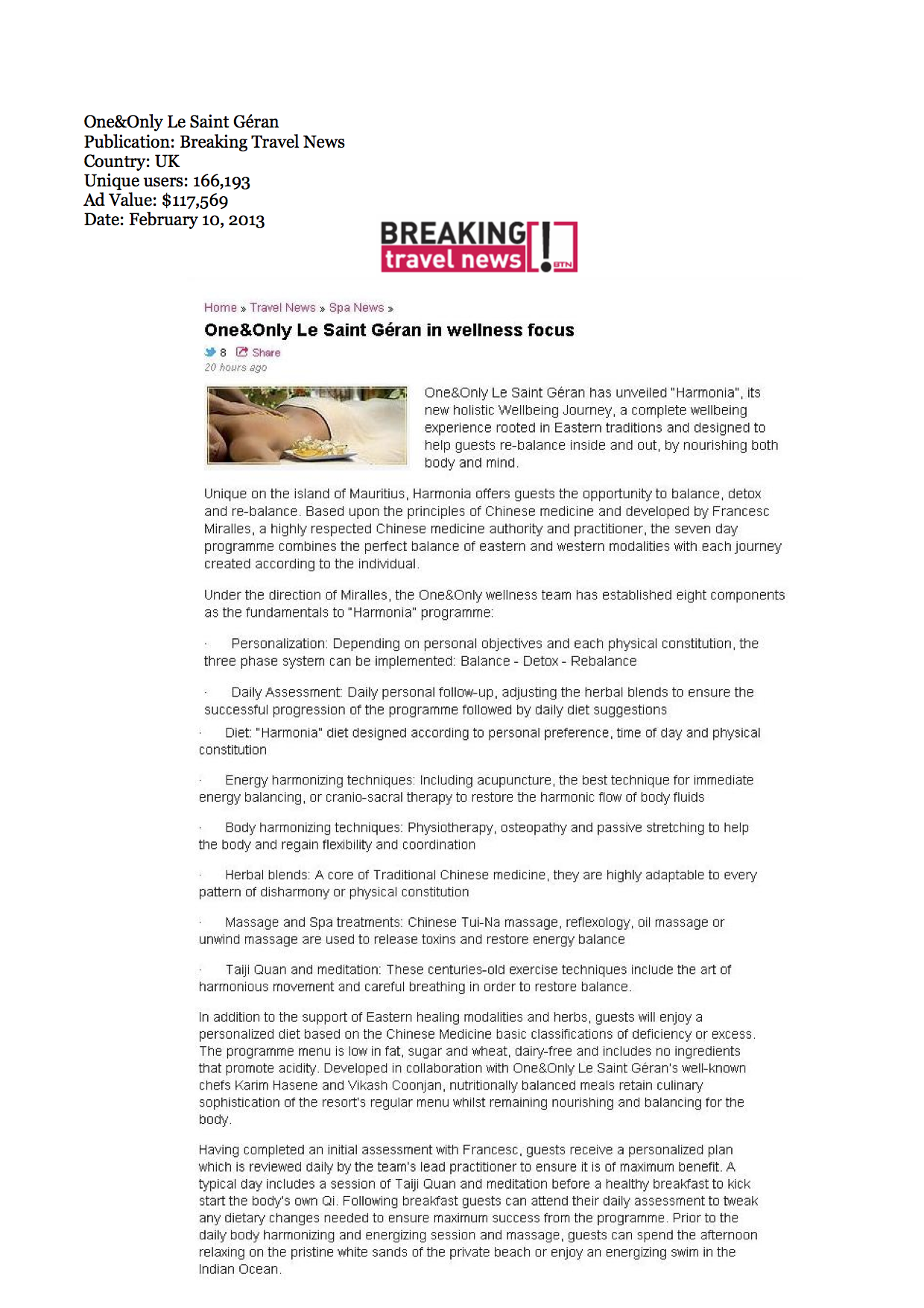 030 - Breaking Travel News 01.10.13
